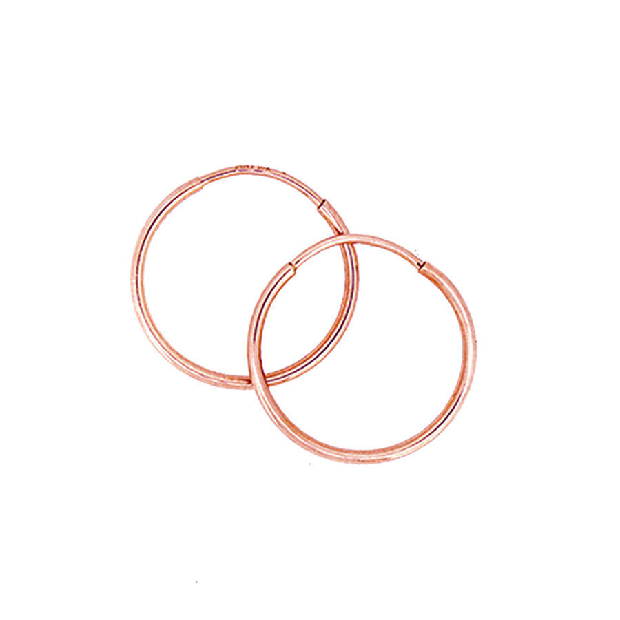 18mm Sleeper Earrings in 10ct Rose Gold