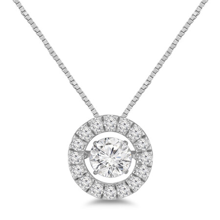 Everlight Pendant with 1.50 Carat TW of Diamonds in 14ct White Gold