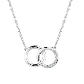 Pendant with Diamonds in Sterling Silver