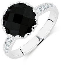 Black & White Cubic Zirconia Stack Ring