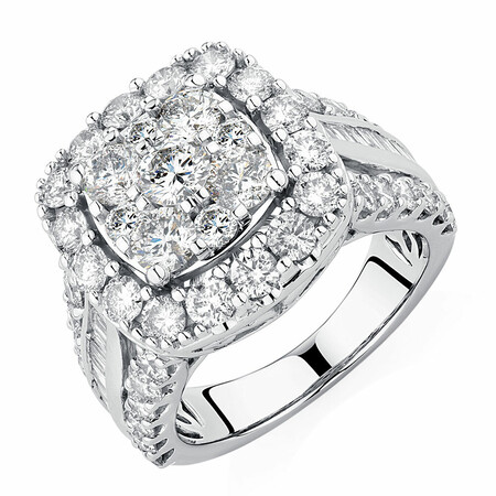 Engagement Ring with 4 Carat TW of Diamonds in 14ct White Gold