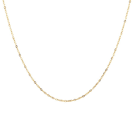 """40cm (16"""") Solid Cable Chain in 10ct Yellow Gold"""