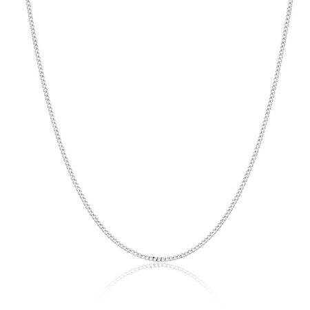 "55cm (22"") Men's Curb Chain in Sen Silver"