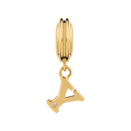 Online Exclusive - Diamond Set & 10ct Yellow Gold 'Y' Charm