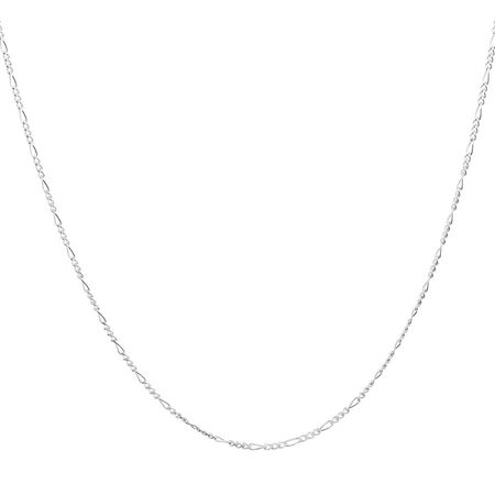"45cm (18"") Figaro Chain in Sterling Silver"