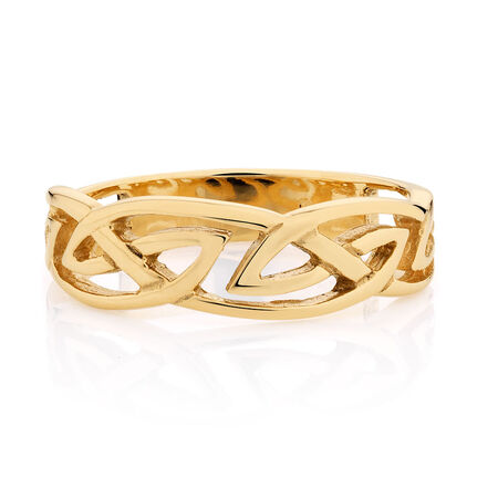 Celtic Ring in 10ct Yellow Gold