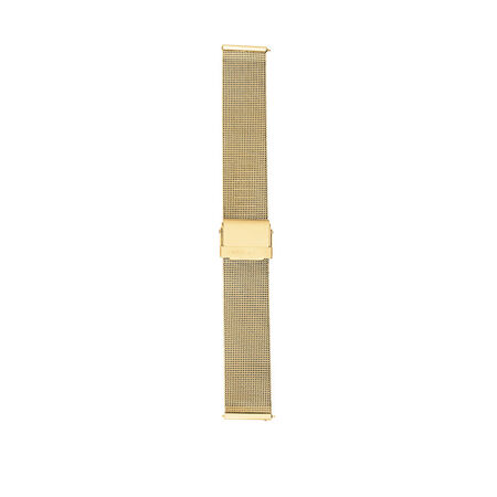 Large Mesh Watch Strap with Gold Tone Stainless Steel