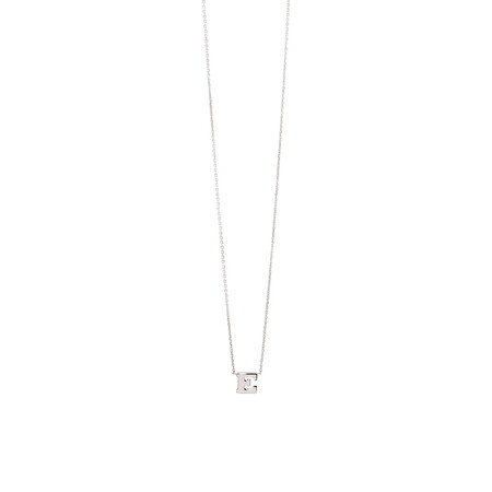 'E' Initial Necklace in Sterling Silver