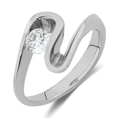 Southern Star Ring with 0.40 Carat TW of Diamonds in 18ct White Gold