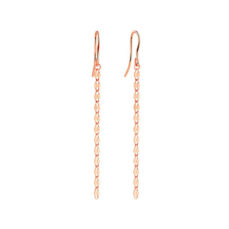 Strand Drop Earrings in 10ct Italian Rose Gold