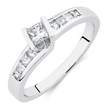 Online Exclusive - Engagement Ring with 0.46 Carat TW of Diamonds in 14ct White Gold