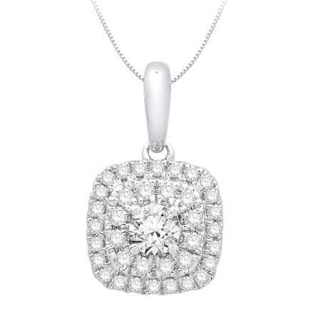 Pendant with 0.34 Carat TW of Diamonds in 10ct Yellow Gold