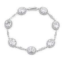 Tennis Bracelet with Cubic Zirconia in Sterling Silver