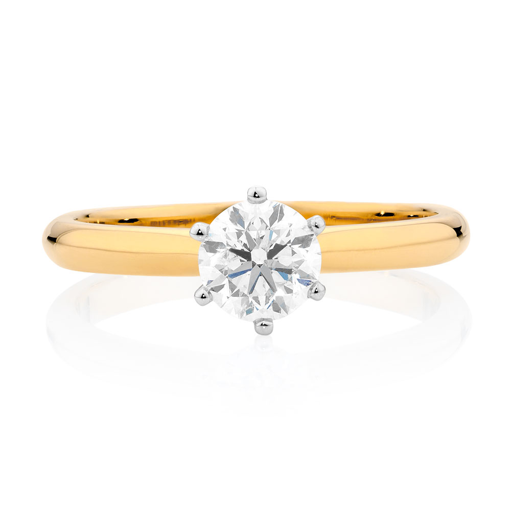 certified solitaire engagement ring with a 3 4 carat tw. Black Bedroom Furniture Sets. Home Design Ideas