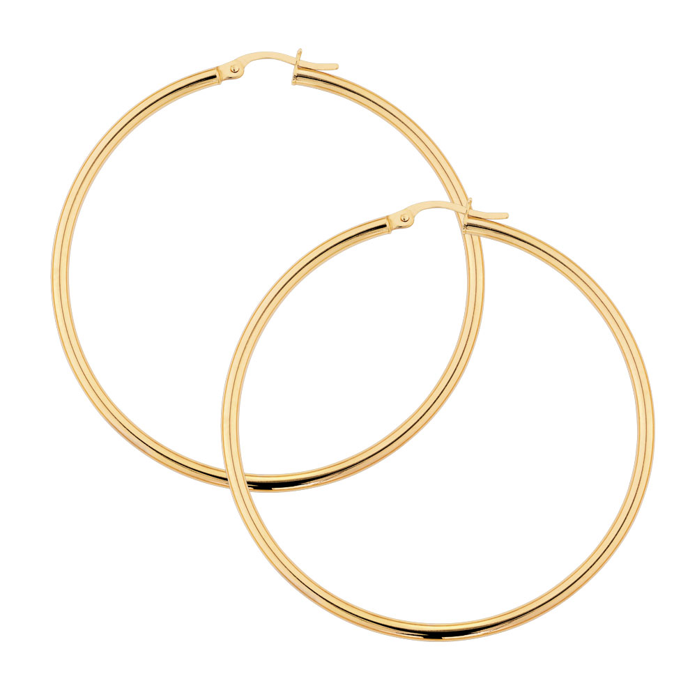 gold hoop earrings hoop earrings in 10ct yellow gold 7521