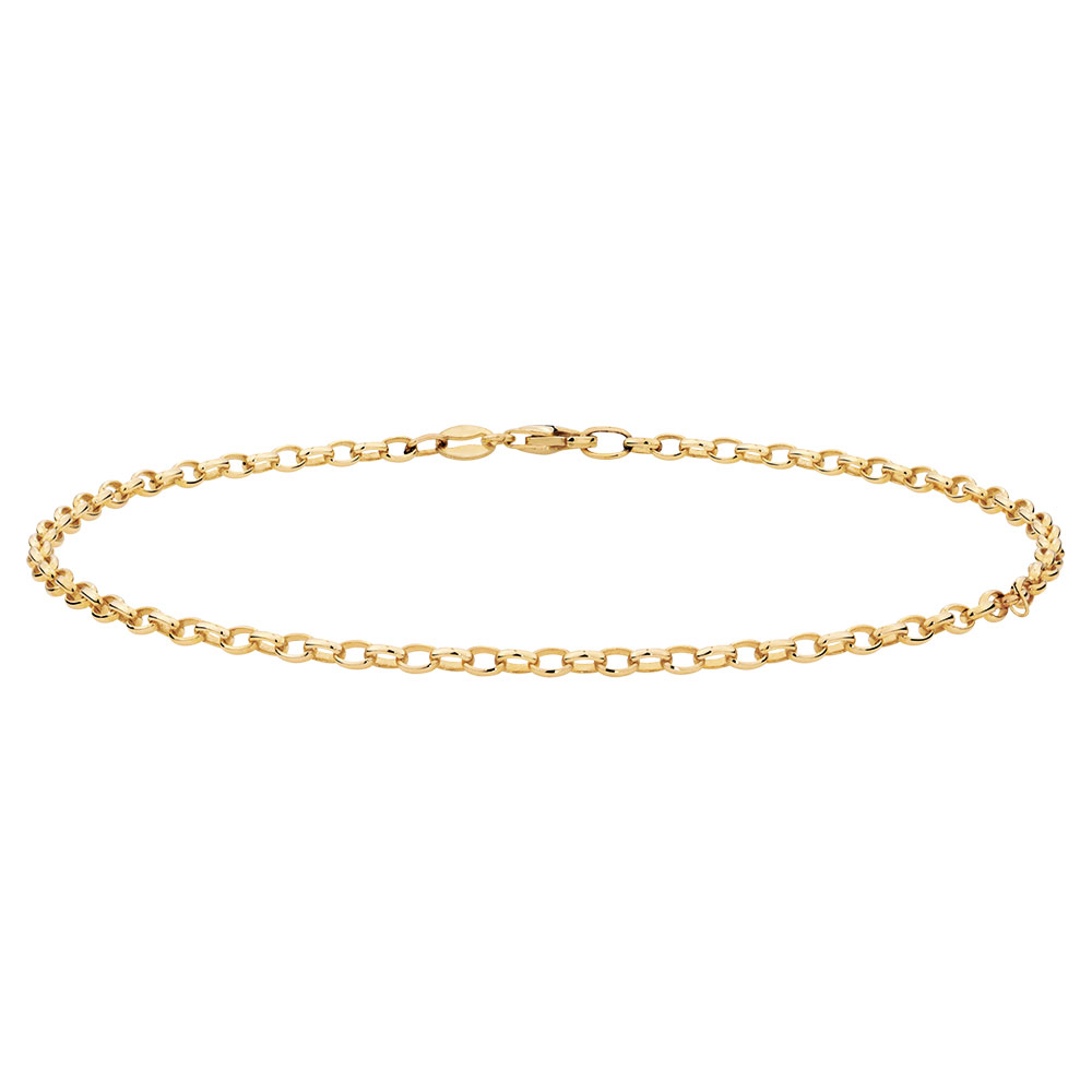 anklet gold yellow p set bracelet