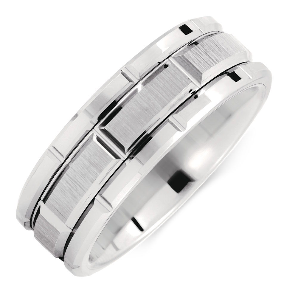 with jewelry ring johan a bands band by tungsten bone rings collections dinosaur beveled