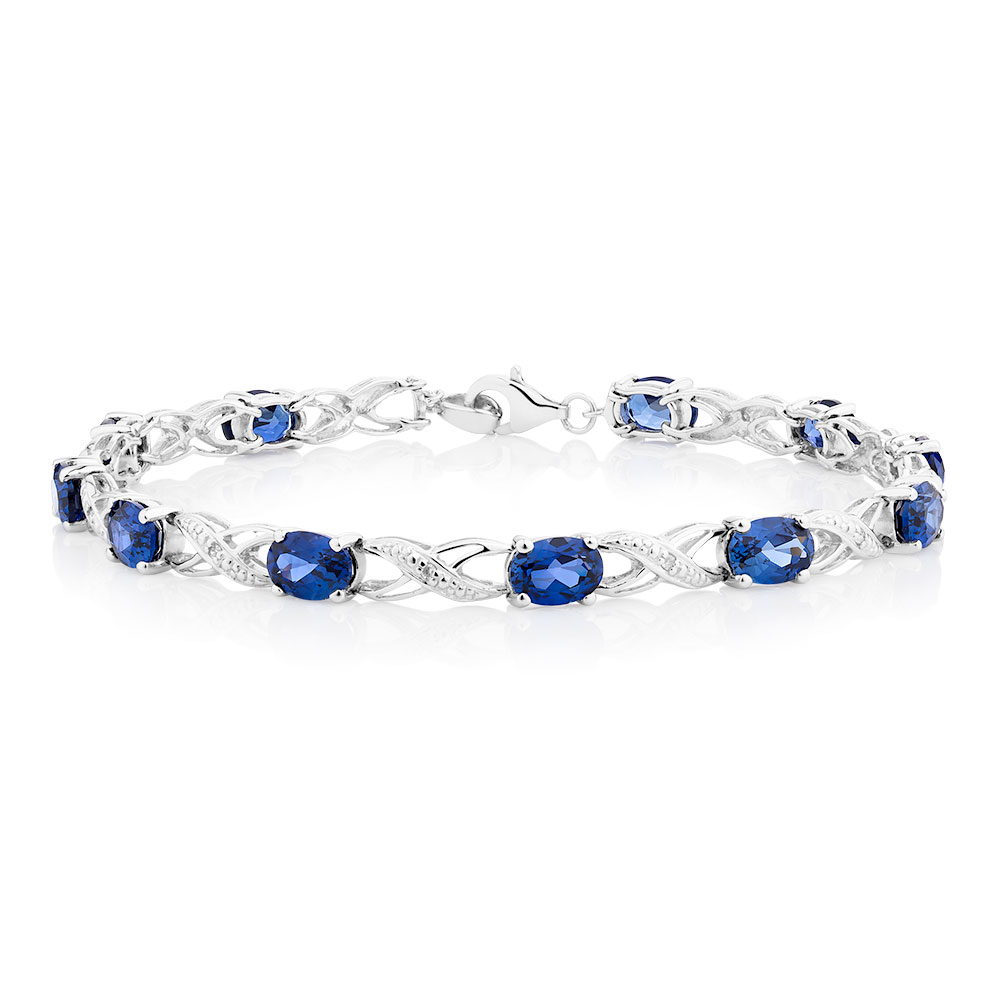 jewelry free overstock shipping watches and blue miadora created silver today white product sterling bracelet sapphire