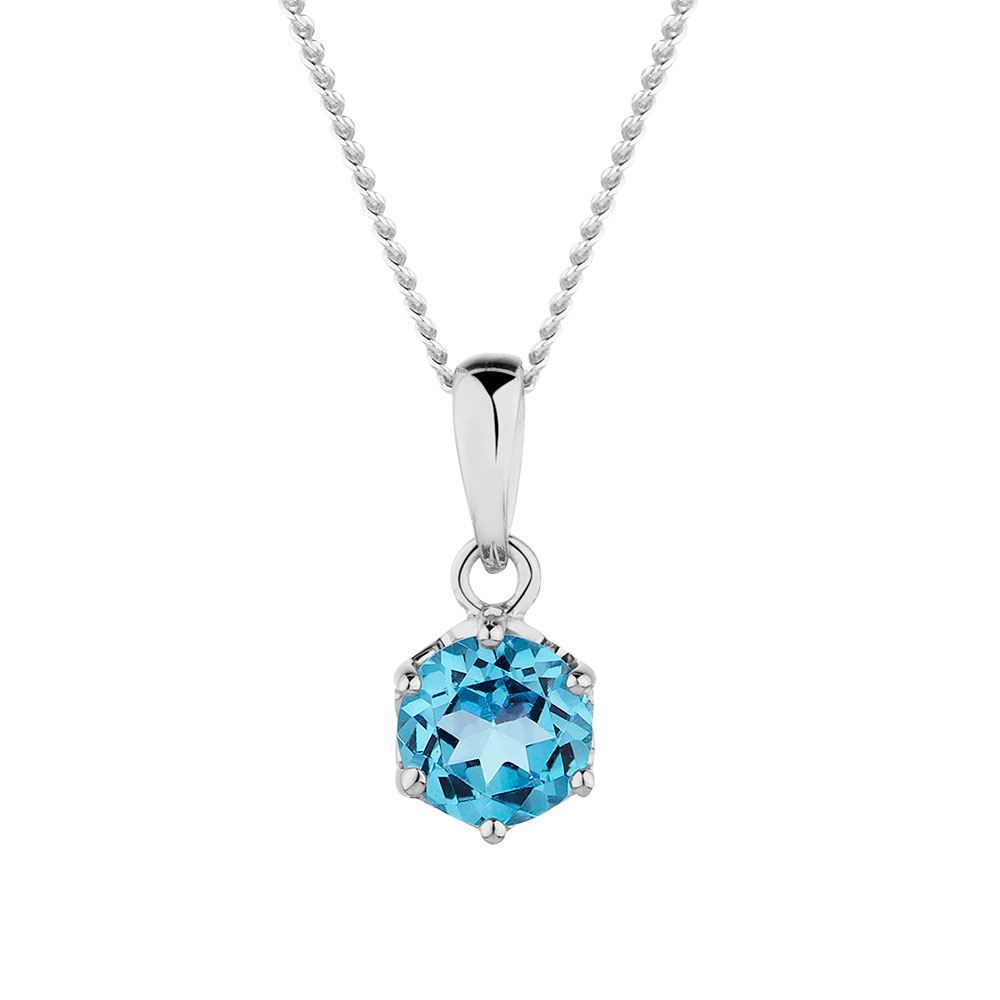 topaz en necklace blue sterling cut zm round silver mv kay enamel kaystore