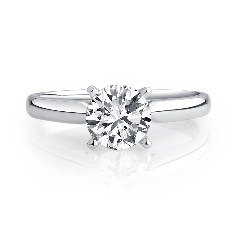 carat white with gold engagement ring in diamond solitaire a