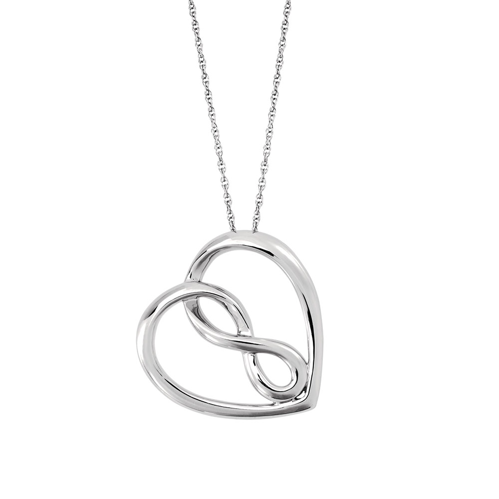 Infinitas heart pendant in sterling silver mozeypictures Gallery
