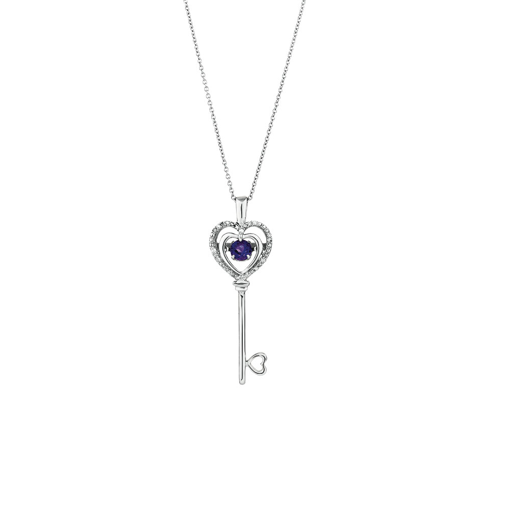diamond pendant amethyst in with gold lockets white