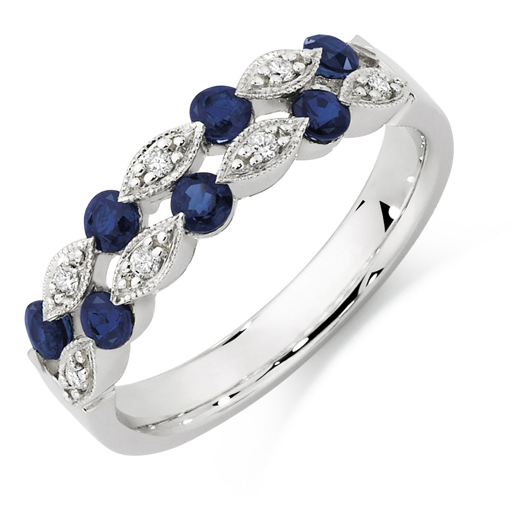 ring gold free levian white anniversary sapphire shipping today watches suzy diamond product and bands blue overstock eternity jewelry band