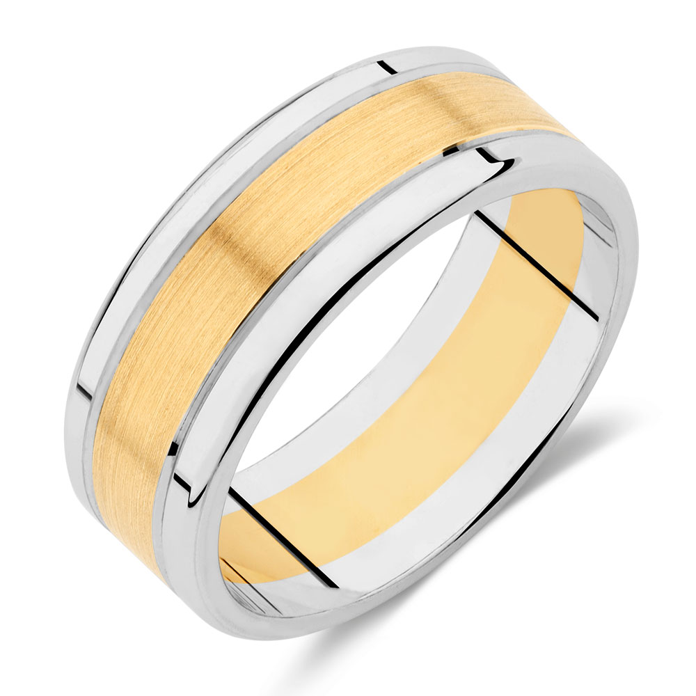 masculine tungsten gold wedding diamond carbide band rings milgrain ring engagement