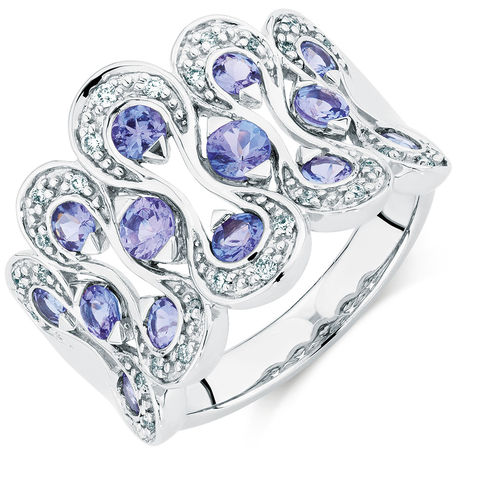 eternity silver platinum channel sterling in ring pin nickel free liquidation tanzanite bands overlay