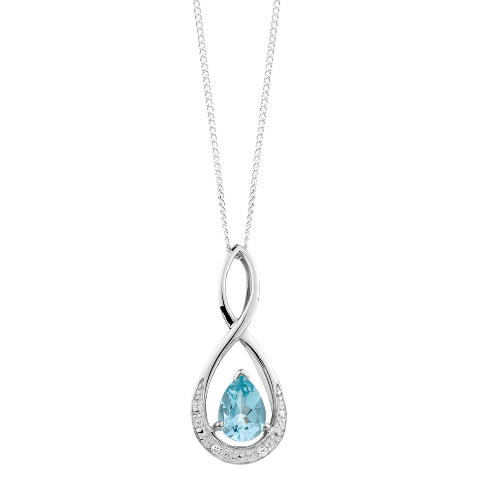 cubic aqua silver oval shopnew marine shop gemstone jewelry created aquamarine a pendant zirconia sterling