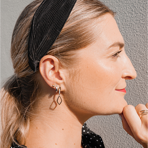 @livewithelle drop earring styling look