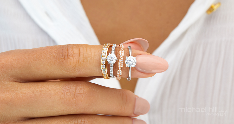 Wedding bands and solitaire engagement rings