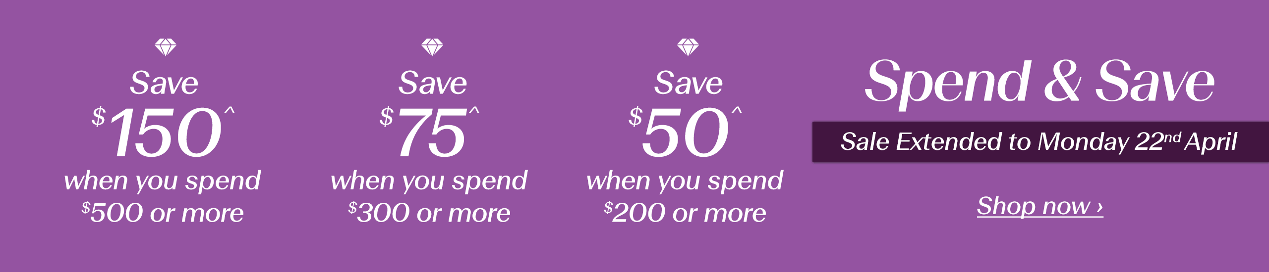 Spend & Save | Shop now ›