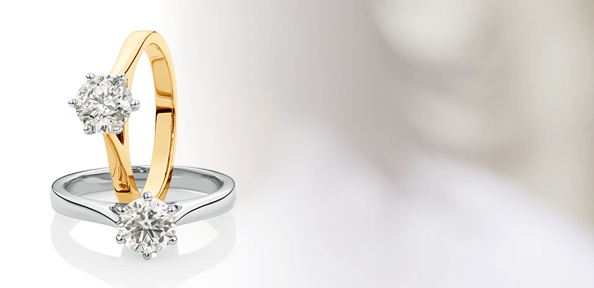 Solitaire Engagement Ring in 14ct Gold