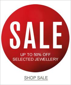 Shop sale on jewellery